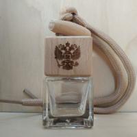 Флакон с деревянной крышкой с логотипом герб