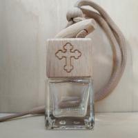 Флакон с деревянной крышкой Православный крест