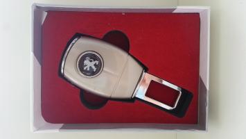 "Переходник ремня безопасности с логотипом ""Peugeot"""