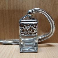 Флакон для автомобильного ароматизатора с серебряной крышкой