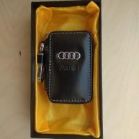 """Ключница кожаная с логотипом """"Audi"""""""