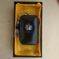 """Ключница кожаная с логотипом """"Honda"""""""