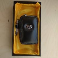 "Ключница кожаная с логотипом ""Hyundai"""