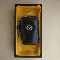 """Ключница кожаная с логотипом """"Mazda"""""""