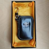 """Ключница кожаная с логотипом """"Toyota"""""""