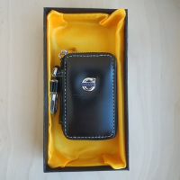 "Ключница кожаная с логотипом ""Volvo"""