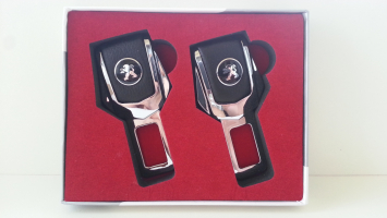 "Заглушка ремня безопасности с логотипом ""Peugeot"""